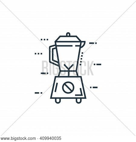 blender icon isolated on white background from technology devices collection. blender icon thin line