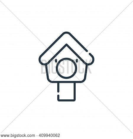 bird house icon isolated on white background from pets collection. bird house icon thin line outline