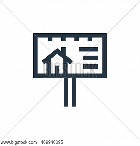 billboard icon isolated on white background from real estate collection. billboard icon thin line ou