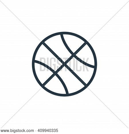 basketball icon isolated on white background from school collection. basketball icon thin line outli