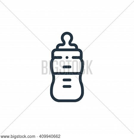 baby bottle icon isolated on white background from plastic products collection. baby bottle icon thi