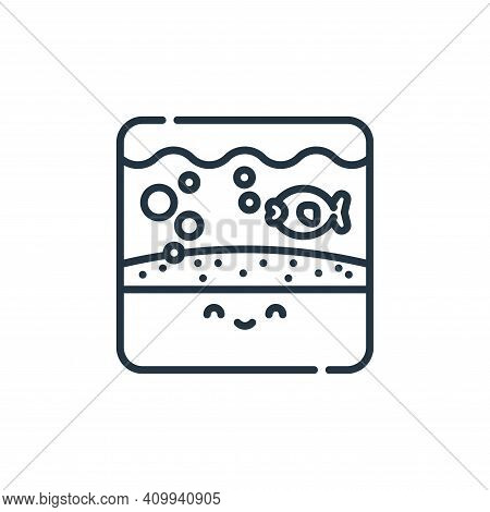 aquarium icon isolated on white background from pets collection. aquarium icon thin line outline lin
