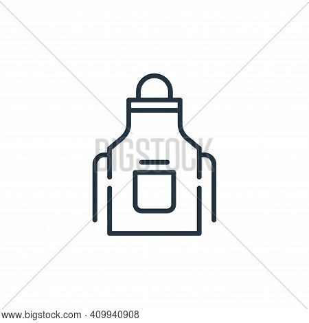 apron icon isolated on white background from cleaning collection. apron icon thin line outline linea