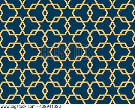 Geometric Islamic Seamless Pattern For Decoration Greeting Card Or Interior. Vector Illustration.