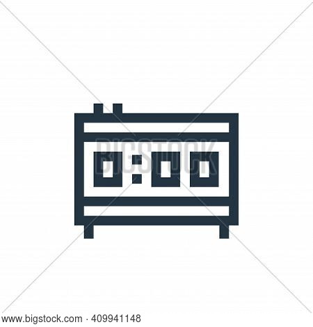 alarm clock icon isolated on white background from mental health collection. alarm clock icon thin l