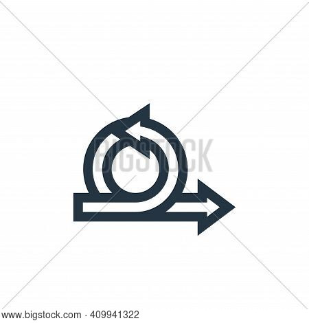 agile icon isolated on white background from management collection. agile icon thin line outline lin