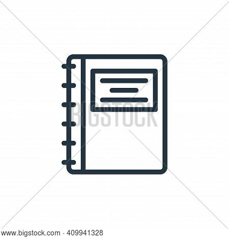 agenda icon isolated on white background from school collection. agenda icon thin line outline linea