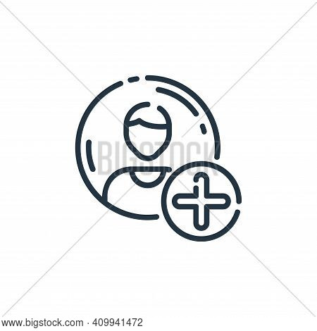 accounts icon isolated on white background from user interface collection. accounts icon thin line o
