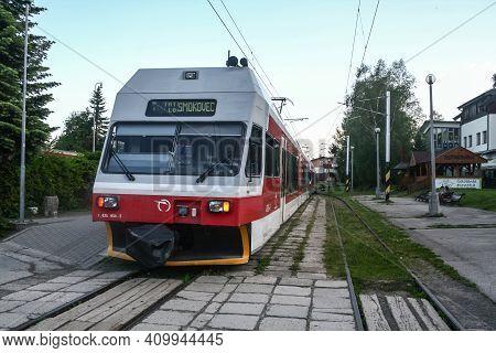 Stary Smokovec, Slovakia - June 9, 2014: Eletric Emu Train From Zssk Slovak Railways From Tez, Or Ta