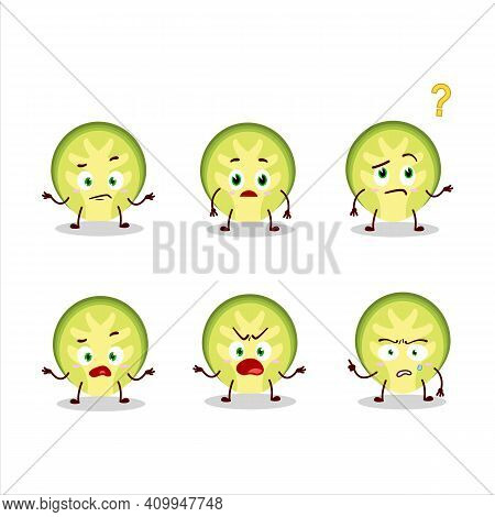 Cartoon Character Of Slice Of Brussels Sprouts With What Expression