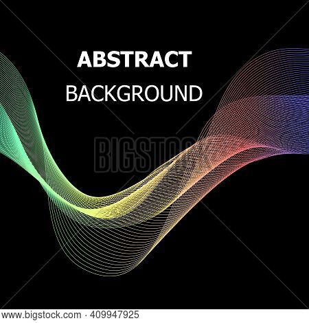 Abstract Background With Colourful Wave, Stock Vector