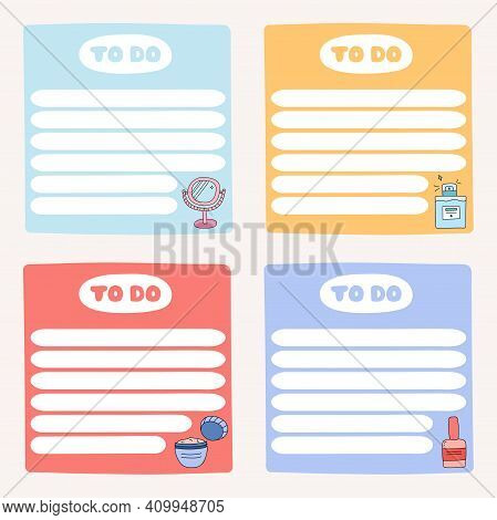 Cute Scrapbook Templates For Planner With Illustrtaions