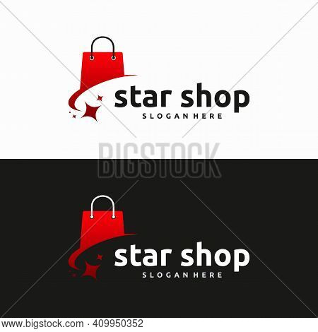 Shopping Bag Logo Designs, Online Shop Logo Template