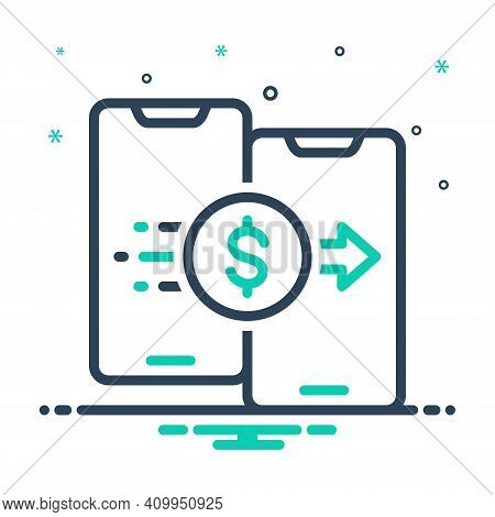 Mix Icon For Document Transfer Shifting Transference Displacement Transferal Share Connection Copy S