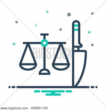 Mix Icon For Criminal Delinquent Guilty Justice Convicted Doomed Blameworthy Law