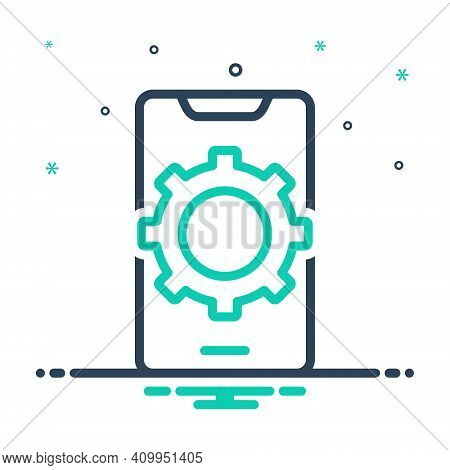 Mix Icon For Preference Config Phone Gearwheels Service Settings Communication Customize Application