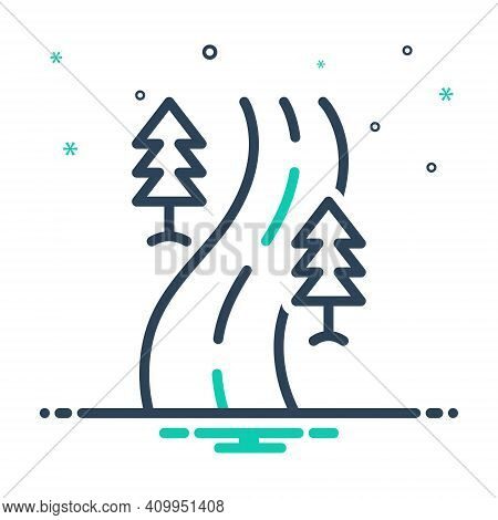 Mix Icon For Road Street Roadway Driveway Highway Path Walkway Route Journey Navigation Direction