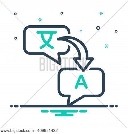 Mix Icon For Translate Render Retranslate Interpret Explain Clarify Convert Decode Dictionary Langua