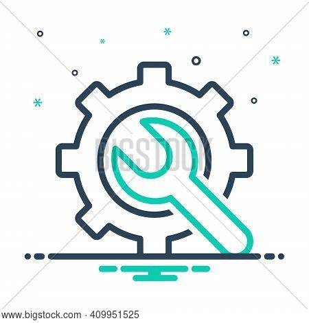 Mix Icon For Preference Config Gearwheels Service Settings Machine Wrench Repair