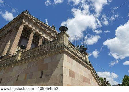 Berlin, Germany - July 01, 2018: Alte Nationalgalerie (old National Gallery) In Berlin