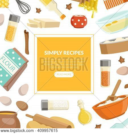 Simply Recipes Landing Page Template, Culinary School, Class, Blog With Cooking Utensils And Product