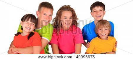 Smiling group of children