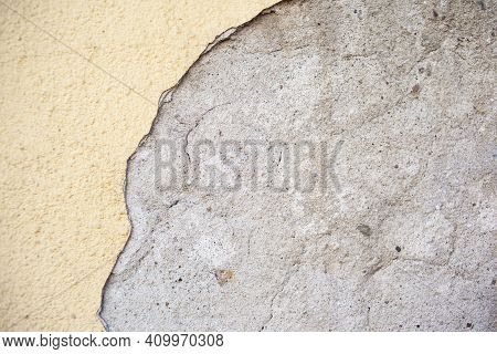 Background Texture Concrete Wall Colored Plaster. Stucco Wall Texture. Dense Grain Texture Made With