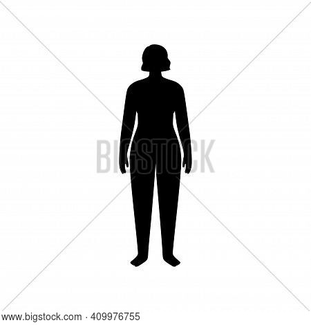 Man Or Kid Silhouette With Slim Figure. Male Persons With Normal Weight. Normal Bmi Range. Adult Or