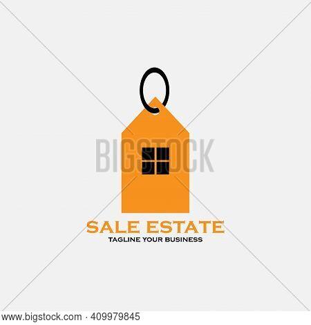 Sale Estate Design Business Real Estate. Sale Estate Illustration Logo Real Estate