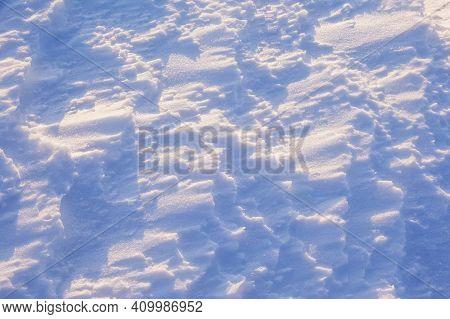 Clean Untouched Snow Texture. Winter Background
