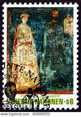 United Nations - Circa 1981: A Stamp Printed In The United Nations, Offices In Vienna Shows Divislav