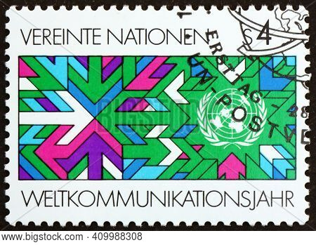 United Nations - Circa 1991: A Stamp Printed In The United Nations, Offices In Vienna Dedicated To W