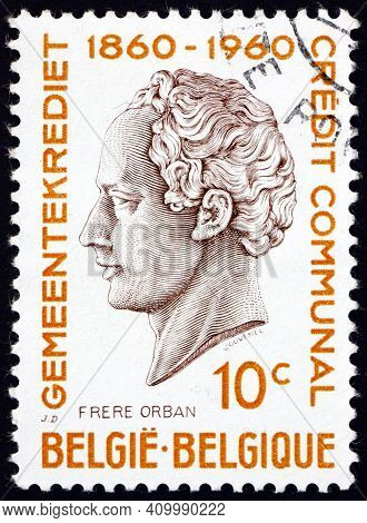 Belgium - Circa 1960: A Stamp Printed In Belgium Shows H. J. W. Frere-orban, Portrait, Was A Belgian