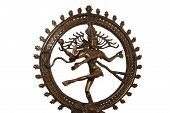 Indian hindu god Shiva Nataraja - Lord of Dance Statue isolated on white poster