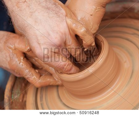 handmade ceramic pottery art Slavic tradition work poster