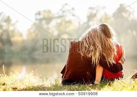 Two Women Rear View