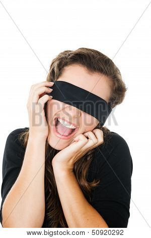 Young Female With Blindfold
