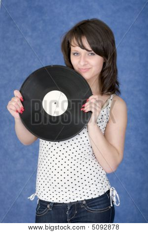 Portrait Of The Girl With A Phonograph Record