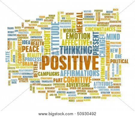 Think Positive as an Attitude Abstract Concept
