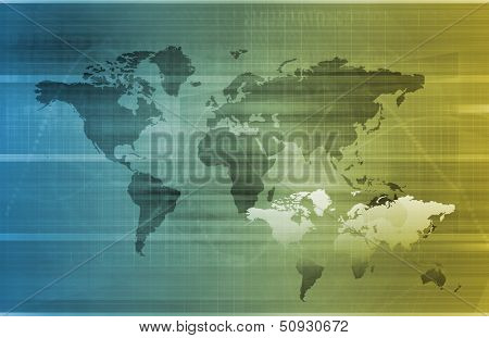 Global Business or International Corporate as Art poster