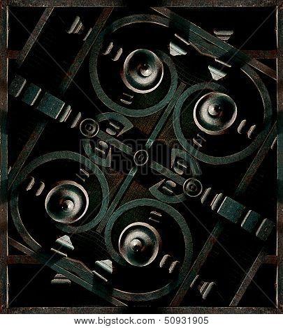 Futuristic Iron Structrure