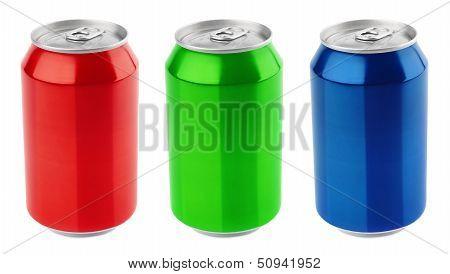 Set Of Aluminum Cans