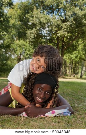 Nice Little Boy And His Black Sister