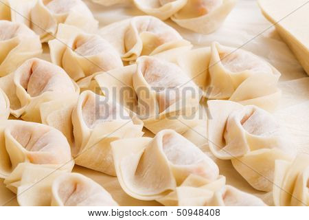 Traditional homemade chinese dumpling poster
