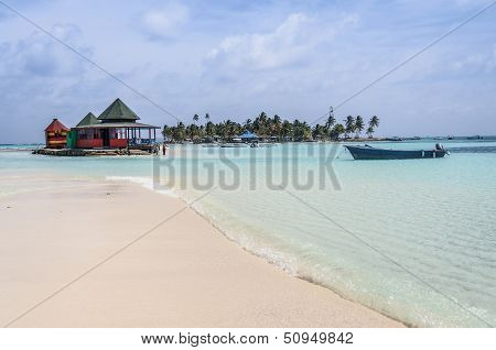 Caribbean Beach Oasis At San Andres Island. Colombia, South America.