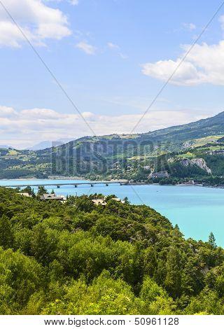 Lake Of Serre-poncon (french Alps)