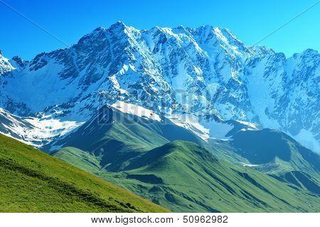 beautiful mountain on summer time