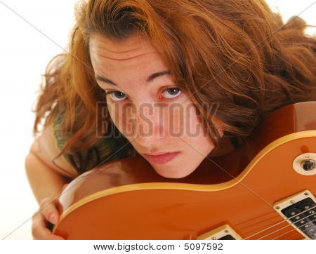 Beautiful Woman With Guitar