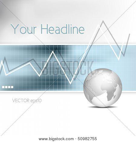 Business chart - bar graph - financial background