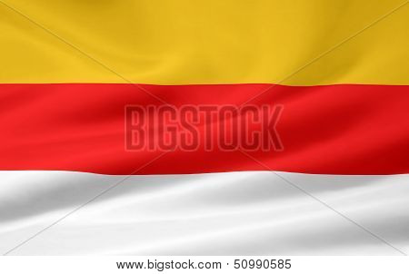 High resolution flag of Carinthia - Austria